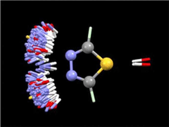 : CSD-based IsoStar plot of N–H and O–H distribution around 1,3,4-thiadiazole
