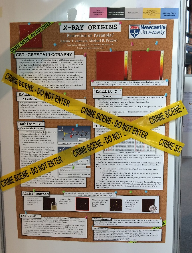 poster investigating the potential of producing fraudulent crystallographic datasets