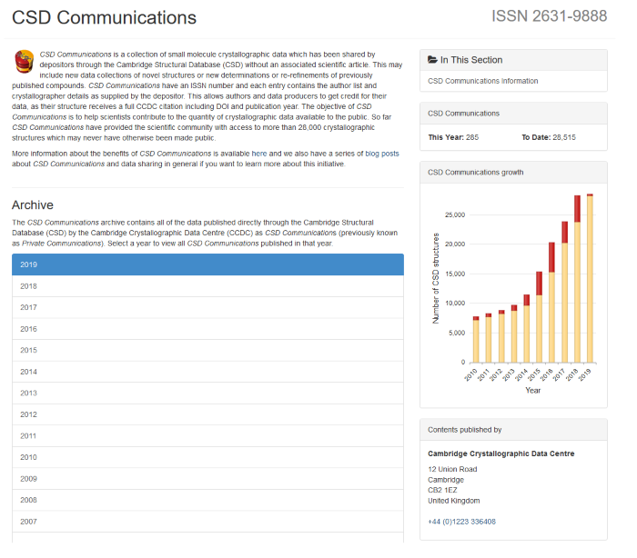 new CSD Communications Archive page